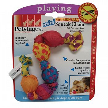 Stuffing Free Squeak Chain for Dogs - Mini