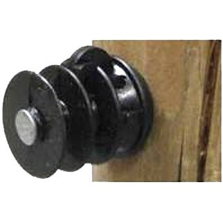 Wood Post Insulator With Nail - 25 pack