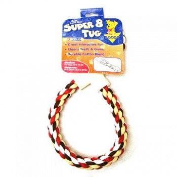 Booda Super 8 Dog Tug Toy - Med / Multi