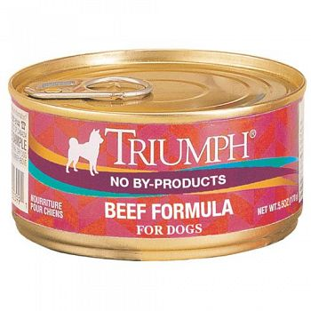 Triumph Can Beef Dog Food 5.5 oz. (Case of 24)