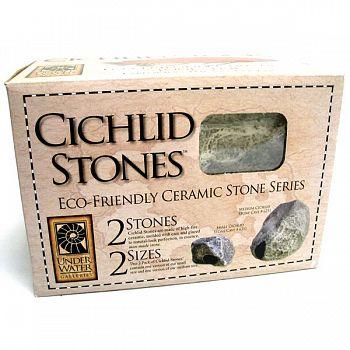 Cichlid Stone Aquarium Decor - 2 pk.