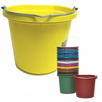 Flat Back 20 quart Bucket