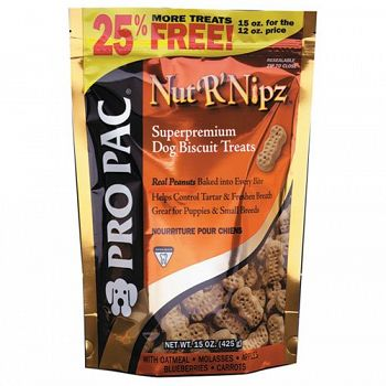 Pro Pac Nut R Nips Treats 15 oz. (Case of 10)