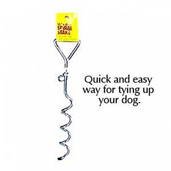 Spiral Pet Tieout Stake - 16 in
