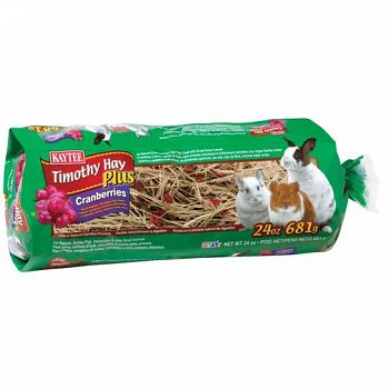 Timothy Hay Plus Cranberry for Small Pets - 24 oz.