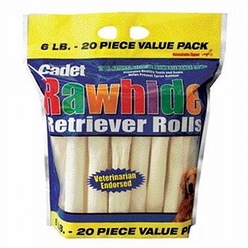 Rawhide Retriever Roll for Dogs - 20 pk.