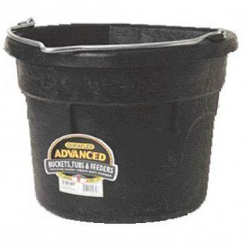 Flat Back Rubber Bucket 18 Qt / Black