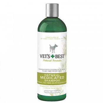 Vets Best Oatmeal Medicated Shampoo 16 oz.