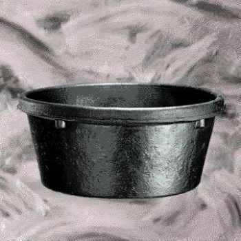 Livestock Feeder Pan - Black / 2 qt