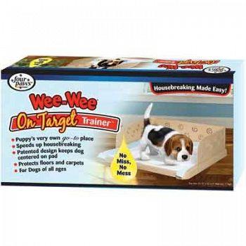 Wee Wee On Target Trainer - Puppy Wee Wee Pad Holder