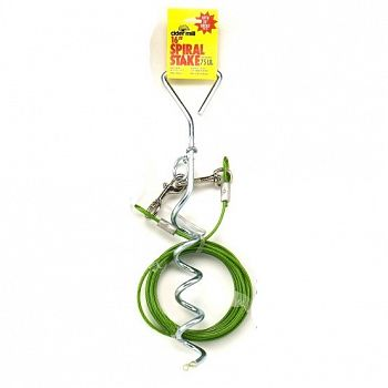 Cider Mill Spiral Stake with 20 Tieout - Dog Tieout