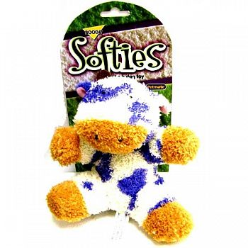 Booda Softies Terry Cow Dog Toy