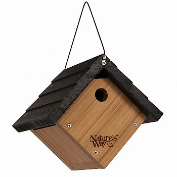 Bamboo Wren Traditional Hanging Bird House