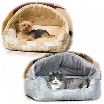 Hooded Cat Bed / Dog Sleeper 20 x 25 in.