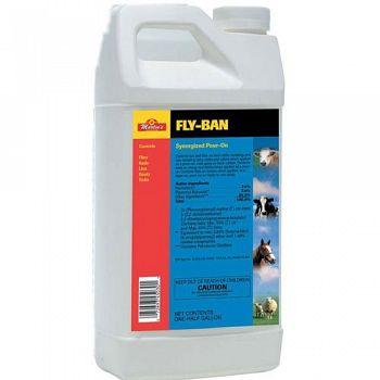 Fly-ban Synergized 7.4% Pouron - 0.5 gallon