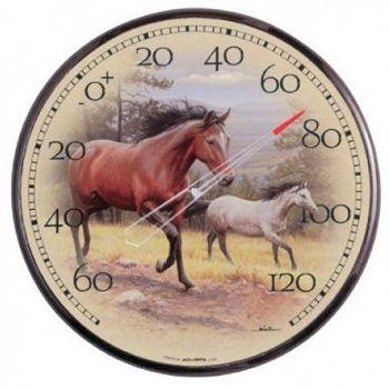 Horses Thermometer by Joe Hautman - 12 in.