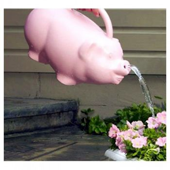 Pink Piglet Watering Can 1.75 gallon