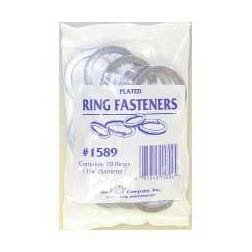 Plated Ring Fasteners 10 pack