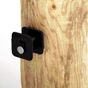 Black Widow Electric Fence Insulator with nail for Wood Post 25 pack