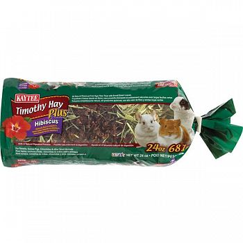 Timothy Hay Plus Hibiscus for Small Pets - 24 oz.