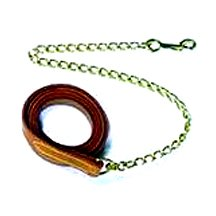 Deluxe Leather Lead w/Chain
