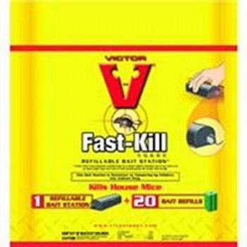 Victor Fast-kill Refillable Bait Stations 20 pk.
