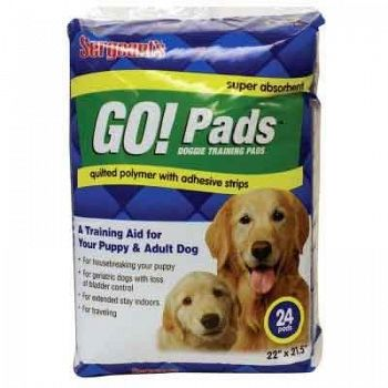 Sergeants Go Pads Doggie Training Pads - 24 ct.