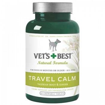 Vets Best Travel Calm - Dog Calming Supplement - 40 ct.