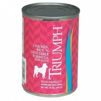 Triumph Can Dog Food 13.2 oz - Ch/Rice/Veg (Case of 12)