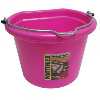 Hot Pink Flatback Bucket - 8 Qt.