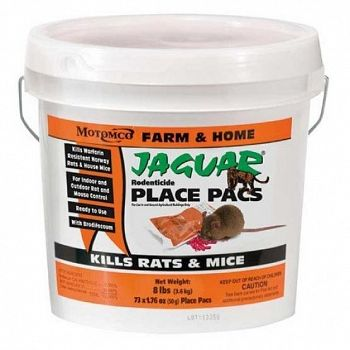 Jaguar Rodenticide Pail of Place Pacs - 73 ct.