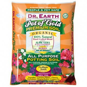 Dr earth pot of gold potting soil 1 5 cubic ft for Organic soil for sale