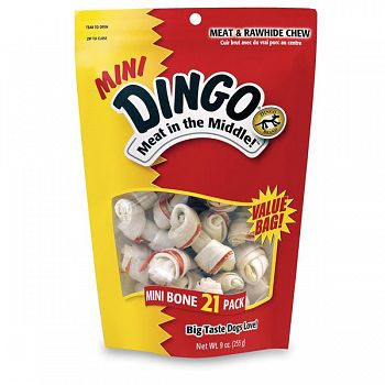 Dingo Mini Dog Bones Value Bag - 21 count