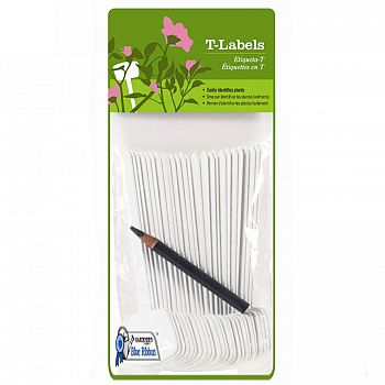 Plant T-labels - 25 pk / White (Case of 12)
