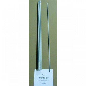 Sunguard Fiberglass Rod Post 4 ft x 3/8 inch (Case of 20)