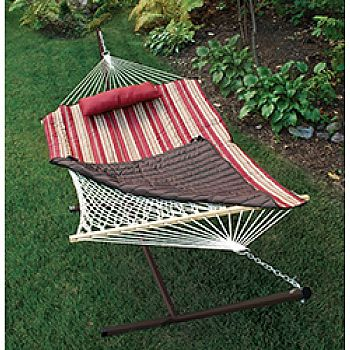 Natural Cotton Rope Hammock With Stand
