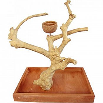 Java Wood Table Top Play Stand