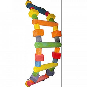 Happy Beaks Wood Ladder Bird Toy