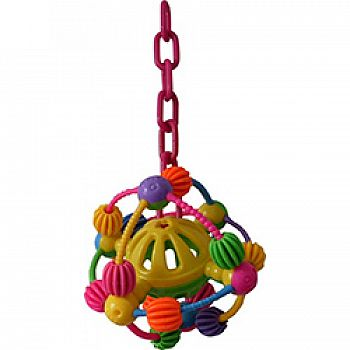 Happy Beaks Space Ball On A Chain Happy Bird Toy