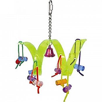 Happy Beaks Acrylic Roller Coaster Bird Toy