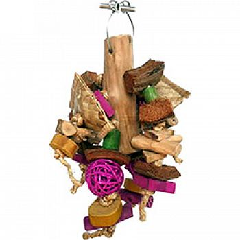 Java Wood Chunky Monster Bird Toy