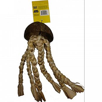 Java Wood Jelly Fish Bird Toy
