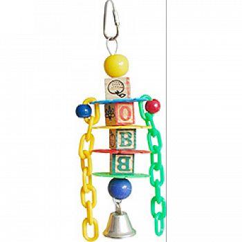 Happy Beaks Petite Learning Blocks Bird Toy