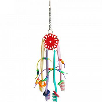 Happy Beaks The Tooth Brush Mobile Bird Toy