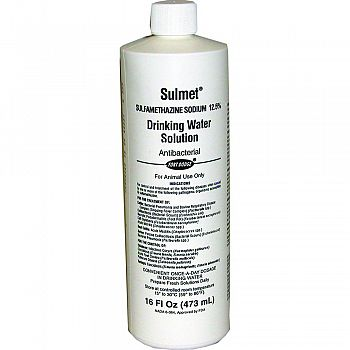 Sulmet Drinking Water Solution 12.5%  16 OUNCE