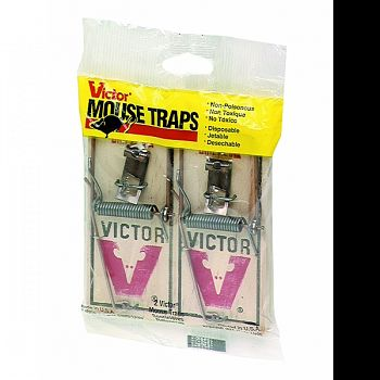 Victor Wood Mouse Trap  2 PACK