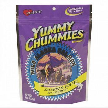 Yummy Chummies Salmon Dog Treat - Potato Soft N Chewy - 4 oz.
