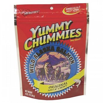 Yummy Chummies Salmon Dog Treat - Salmon Jerky - 4 oz.