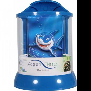 Aqua Terra With 3d Shark Background BLUE 1 GALLON