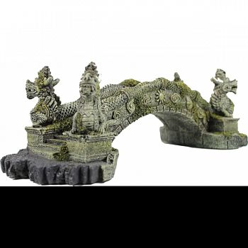 Dragon Stone Bridge Aquarium Ornament  14X5.75X4.5IN